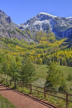 Fall Colours, Telluride, Western San Juan Mountains in the Background by Richard Maschmeyer