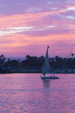 Felucca on the Nile River, Luxor, Egypt, North Africa, Africa by Richard Maschmeyer