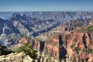 From Bright Angel Point, North Rim, Grand Canyon National Park, UNESCO World Heritage Site, Arizona by Richard Maschmeyer