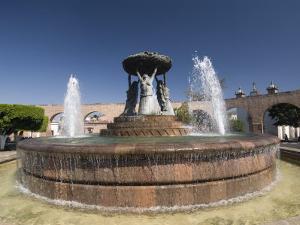 Fuente Las Tarasca, a Famous Fountain, Morelia, Michoacan, Mexico, North America by Richard Maschmeyer
