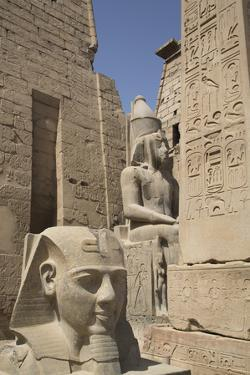 Head of Ramses Ii in Foreground and Colosssus of Ramses Ii Behind by Richard Maschmeyer