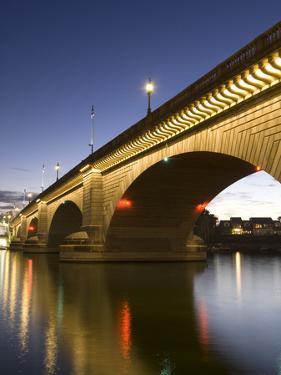 London Bridge in the Late Evening, Havasu, Arizona, United States of America, North America by Richard Maschmeyer