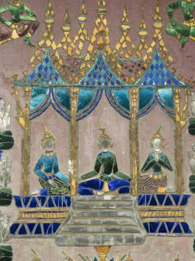 Mirror Mosaics, Reclining Buddha Shrine (Red Chapel), Wat Xieng Thong, UNESCO World Heritage Site, by Richard Maschmeyer