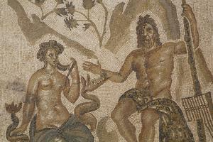 Mosaic of Polifemo and Galatea, Alacazar de los Reyes Cristianos, Cordoba, Andalucia, Spain, Europe by Richard Maschmeyer