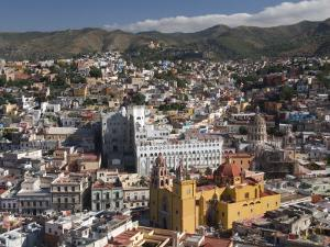 Overview of City from the Monument of El Pipila, Guanajuato City, Guanajuato by Richard Maschmeyer