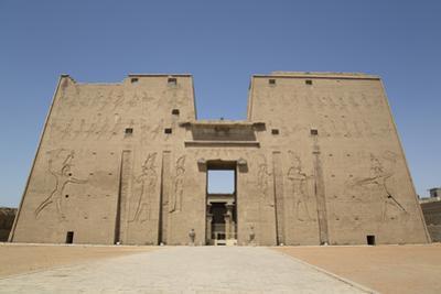 Pylon, Temple of Horus, Edfu, Egypt, North Africa, Africa by Richard Maschmeyer