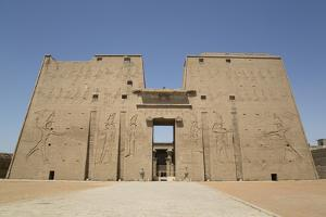 Pylon, Temple of Horus, Edfu, Egypt, North Africa, Africa by Richard Maschmeyer