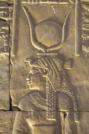 Relief Depicting the Goddess Hathor, Temple of Horus, Edfu, Egypt, North Africa, Africa