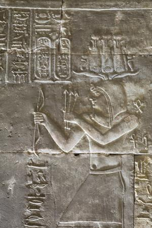 Relief of a Priest, Temple of Horus, Edfu, Egypt, North Africa, Africa