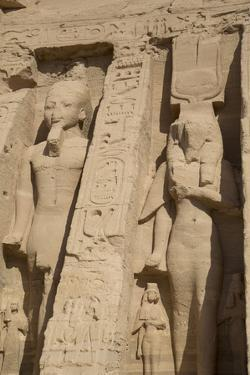 Rock-Hewn Statues of Ramses Ii on Left by Richard Maschmeyer