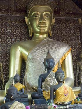 Sitting Buddha in the Main Temple, Wat Xieng Thong, UNESCO World Heritage Site, Luang Prabang, Laos by Richard Maschmeyer