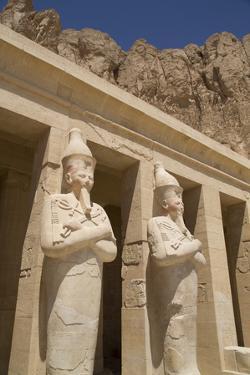 Statues of Osiris, Deir-El-Bahri (Hatshepsut's Temple), West Bank by Richard Maschmeyer
