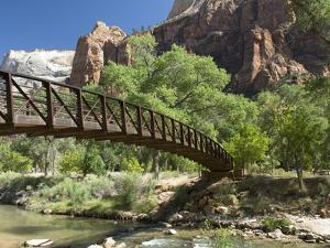 The Virgin River, Foot Bridge to Access the Emerald Pools, Zion National Park, Utah, United States  by Richard Maschmeyer