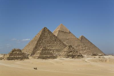 Tourist Horsecart in Foreground, the Giza Pyramids, Giza, Egypt, North Africa, Africa by Richard Maschmeyer