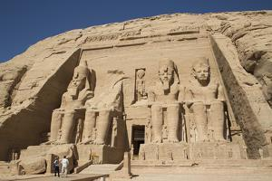 Tourists Enjoying the Site, Colossi of Ramses Ii, Sun Temple by Richard Maschmeyer