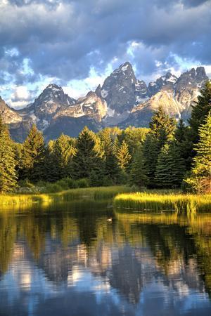Water Reflection of the Teton Range