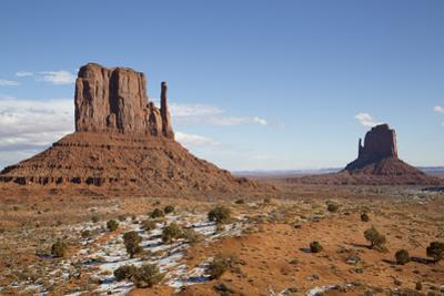 West Mitten Butte on left and East Mitten Butte on right, Monument Valley Navajo Tribal Park, Utah, by Richard Maschmeyer