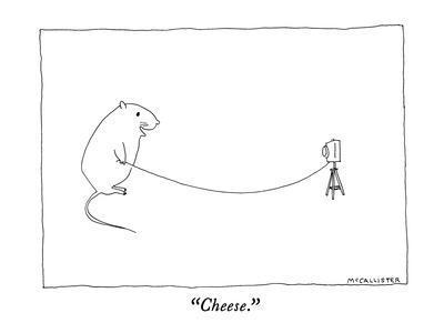 """""""Cheese."""" - New Yorker Cartoon"""
