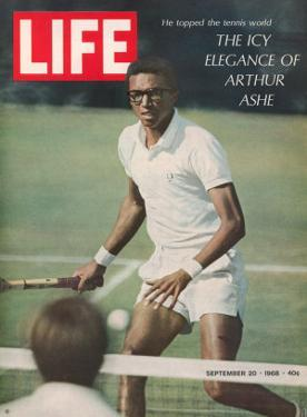 Tennis Player Arthur Ashe, September 20, 1968 by Richard Meek