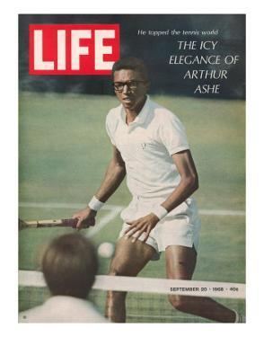 Tennis Player Arthur Ashe, September 20, 1968 by Richard Meek