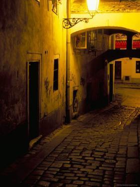 Bastova Street is a Fine Example of Historical Street in City's Old District, Bratislava, Slovakia by Richard Nebesky