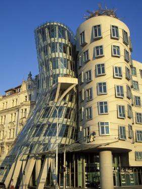 Exterior of the Dancing House at Rasinovo Embankment, Nove Mesto, Prague, Czech Republic by Richard Nebesky