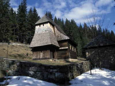 Exterior of Wooden Ruthenian Orthodox Church in Village of Zuberec, Zilina Region, Slovakia
