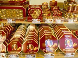 Famous Mozart Chocolates, Salzburg, Austria by Richard Nebesky