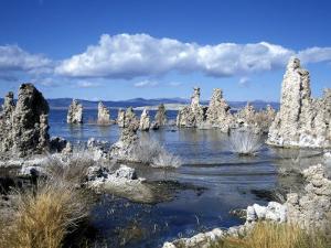 Landscape of Tufa Formations at Mono Lake, California, USA by Richard Nebesky
