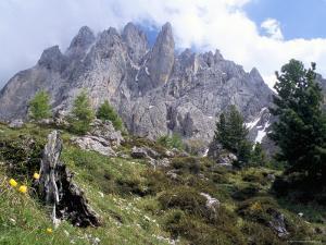 Sassolungo Range, 3181M, Val Gardena, Dolomites, Alto Adige, Italy by Richard Nebesky