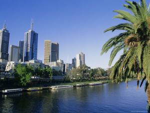 The Yarra River and City Buildings from Princes Bridge, Melbourne, Victoria, Australia by Richard Nebesky