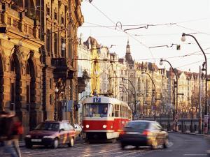 Tram, Prague, Czech Republic by Richard Nebesky