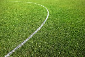 Center Circle on Football Pitch by Richard Newstead