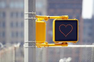 Traffic Sign with Heart Shape by Richard Newstead