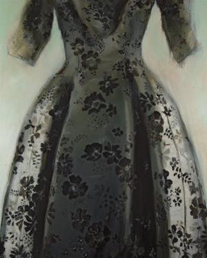 Black Balenciaga Dress by Richard Nott