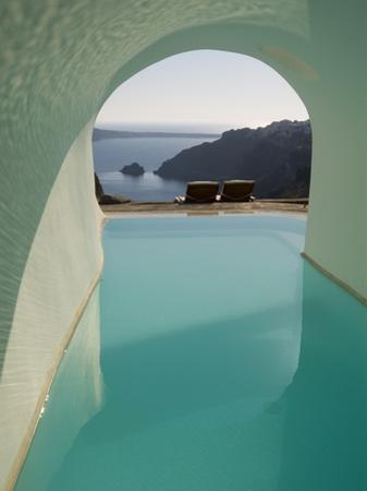 A Swimming Pool under an Arch Overlooking the Aegean Sea by Richard Nowitz