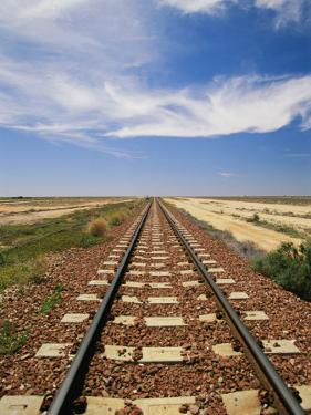 A View of the Indian Pacific Railroad Crossing the Nullarbor Plain by Richard Nowitz