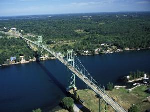 Aerial View of the Thousand Island Bridge and the Saint Lawrence River in New York by Richard Nowitz