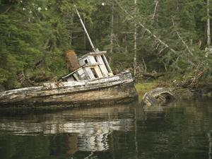An Abandoned Tugboat on the Edge of Barnard Harbour by Richard Nowitz