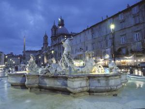 Bernini's Fontana Del Moro, C.1650, on the Piazza Navona by Richard Nowitz