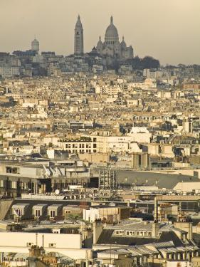 Elevated View of Paris with Montmartre and Sacre Coeur Basilica by Richard Nowitz