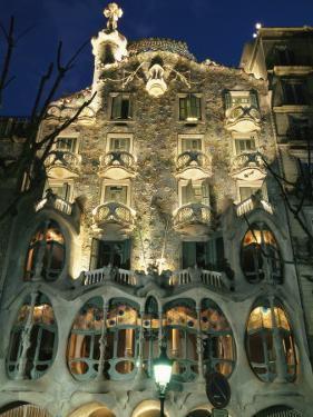 Exterior View of an Antoni Gaudi Building in Barcelona by Richard Nowitz