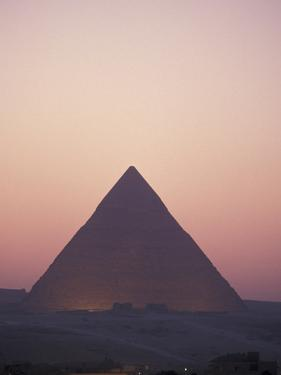 Giza Pyramids at Sunset in Egypt by Richard Nowitz