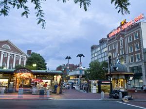 Harvard Square at Dusk by Richard Nowitz