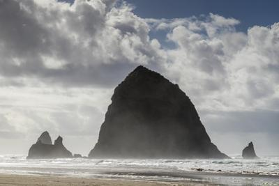 Haystack Rock on Cannon Beach in Oregon, USA. by Richard Nowitz