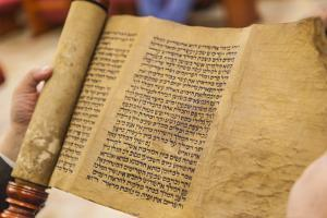 Jews Read the Scroll of Esther During a Celebration of Purim, Neve Shalom Synagogue, Casablanca by Richard Nowitz