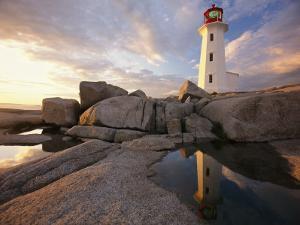 Lighthouse at Sunset by Richard Nowitz