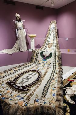 Mobile Carnival Museum Exhibits an Embroidered Cape Worn by the African American Carnival Queen by Richard Nowitz