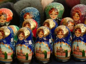 Nesting Dolls are Sold in a Gift Shop by Richard Nowitz