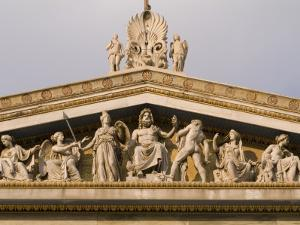 Pediment Sculptures Above the Colonnade  of the Academy of Athens by Richard Nowitz